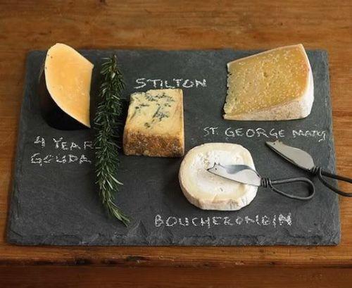 Skifferplatta som ostbricka